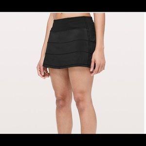 Lululemon Pace Rival Skirt Tennis Size 12 Black
